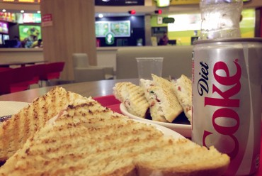 sandwich and coke